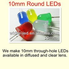 10mm round White Red Green Blue yellow uv led diode