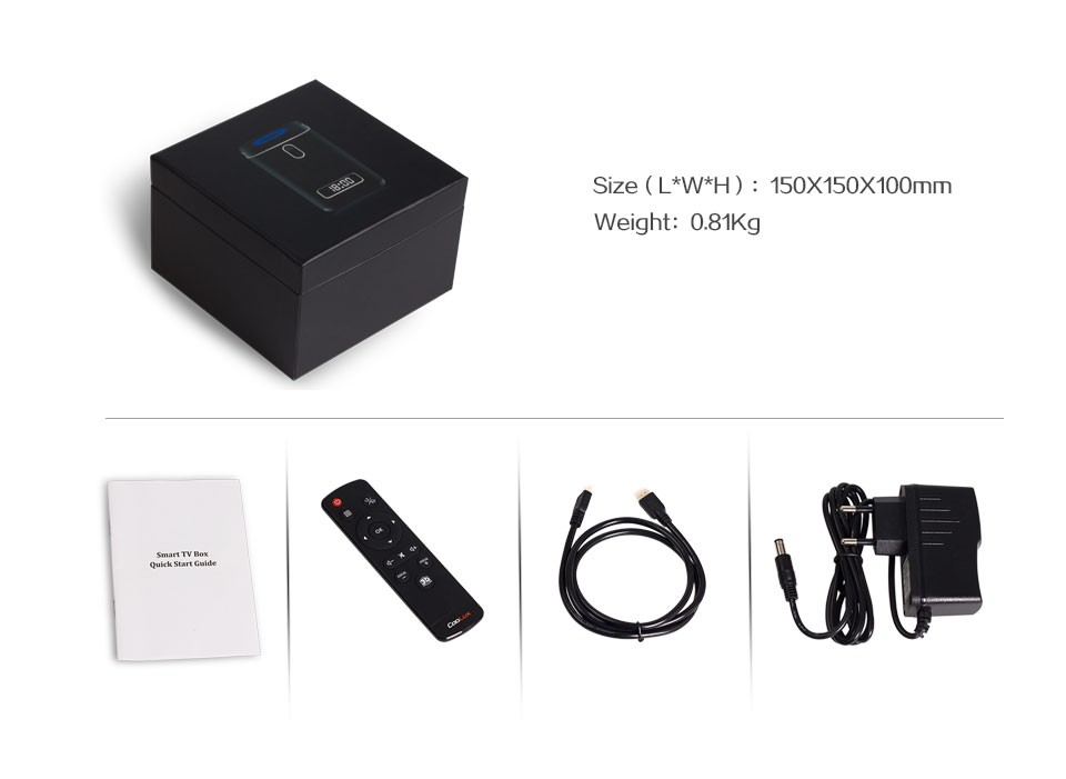 RK3368 octa core android 6.0 tv box 720P WEBCAM 4K MEDIA PLAYER 2GB ram 8GB rom KODI 16.1 ott tv box