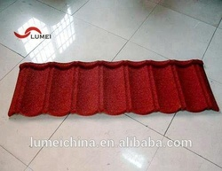 high quality1400x420x0.4mm stone coated metal roof tiles