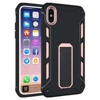 Hot selling new products shockproof 2 layers hard plastic mobile phone case for samsung galaxy note 8 with invisible holder