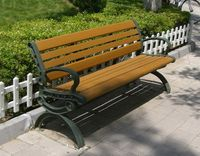 Serviceable Wood & plastic composite material bench