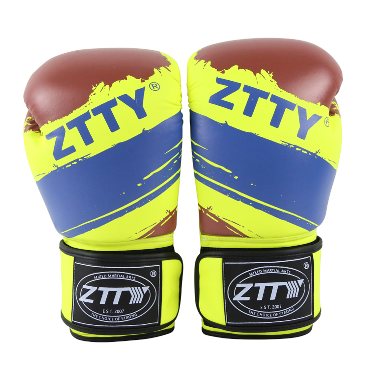 hot new products for 2017 PU Leather winning kick Boxing Gloves