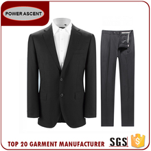 2017 Wholesale Custom Classic Style Regular Fit 2 Button Black Mens Suit