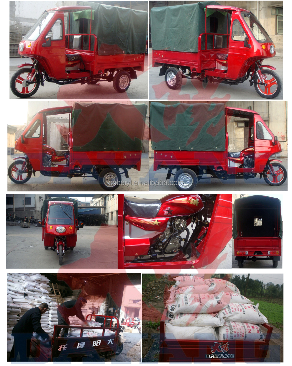 2015 hot sale heavy loading tricycle with canvas roof for sale