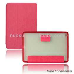 Wholesale custom leather smart cover for ipad mini