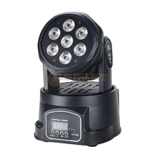 Quad color 7x10w 4in1 RGBW mini LED moving head wash led dj light, DJ Equipment