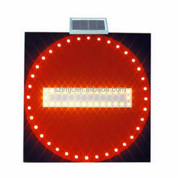 Customized traffic safety highway solar LED warning road signs