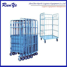 China shenzhen factory wheeled transport cage used roll off container for sale