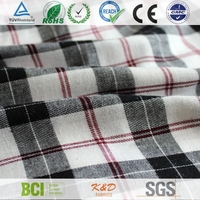 twill plaid check brushed fabrics for kids cotton frocks design wholesale factory