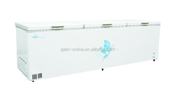New type double top open door chest freezer 918L