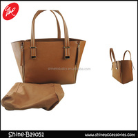 Stylish Brown faux leather PU handbag with inner bag