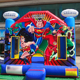 Hot sale justice league Supermen Hero theme inflatable bounce house