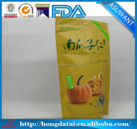 Matte stand up pouch bag for pumpkin seeds package