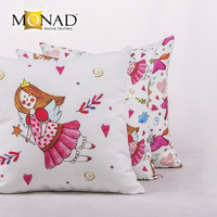 Monad fairy home decorative white pink car seat covers design pillows cover