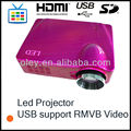 cheap led projector usb proyector with USB port support RMVB video playing