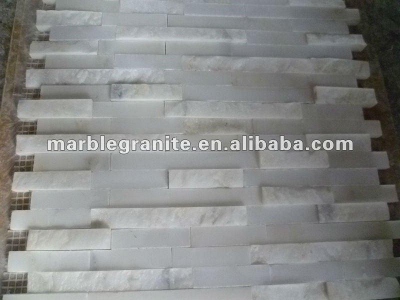 Rustico, lucido, pietra levigata mattonelle della parete mosaico ...