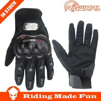 RIGWARL Best Protective Black Pro Biker Leather Motorcycle Gloves With OEM Service