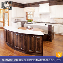 Customized Solid Wood Kitchen Kits / U Shape Antique Kitchen Cabinets