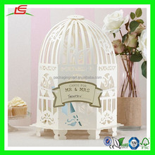 N681 Wedding Birdcage Post Box, White Bird Cage Favor Box, Handmade Decorative Party Favor Box