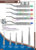 Osteotomos, Implantes Dentales Instrumentos, cinceles de implantes
