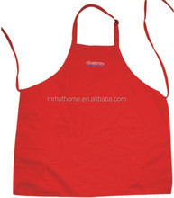 red twill polyester cotton promo kitchen apron