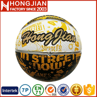 HB024 nature rubber colorful basketball size 5 for training