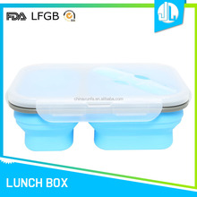 China made LFGB grade rectangular silicone heated lunch box