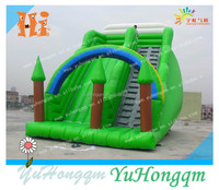 china best quality green trees inflatable kids slide with arch for sale for party use