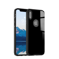 Rear Tempered Glass Back Case for iPhone X