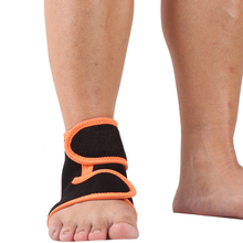 Professional Quality Healthy Flexible Black Neoprene Ankle and Foot Supports Wrap Pads