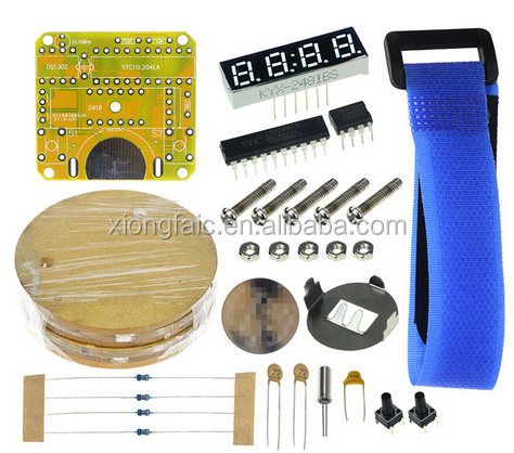 (New Original)Single chip LED watch electronic clock kit DIY