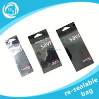 clear plastic bag with self-adhesive tape