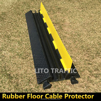 2 Channels Rubber Cable Protector Floor