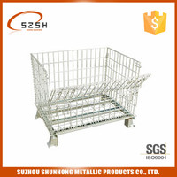 warehouse folding galvanized welded wire storage cage