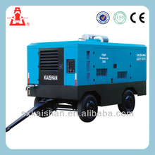 KAISHAN LGCY-12/10 10bar diesel air compressor for mining portable
