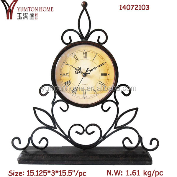 Metal unique table clock antique table clocks