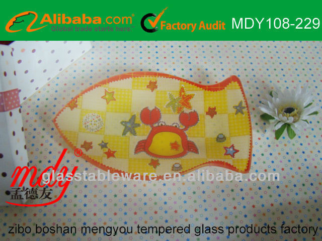 glass animals, animal shaped glass plate