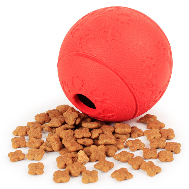 Feeding Food Ball Rubber Attractive Chew Ball Smart Dog Toy