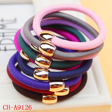 High quality thick cord hair bands elastic hair band with CCB beads