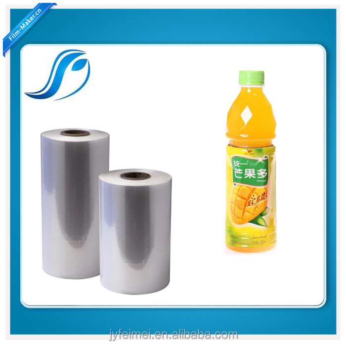 Blown PVC Shrink Film For Bottle Sleeve Rolls