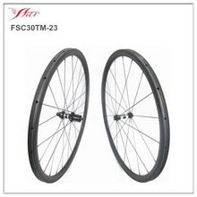 New tubular carbon wheels 30mm x23 wide full carbo fiber road bike wheels 20H/24H basalt braking with high-temp resin