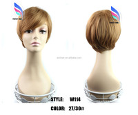 wholesale factory price synthetic hair wigs men's wig 10pcs/lot
