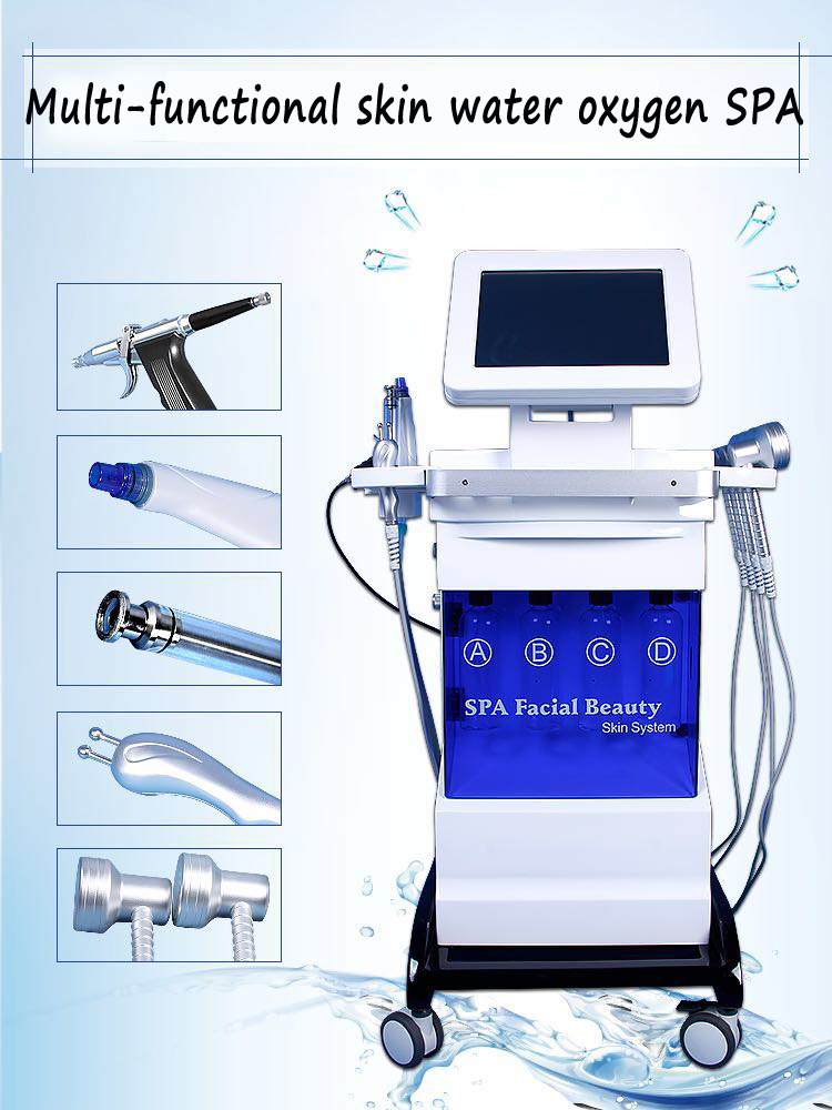 2019 new skin care system facial glowskin beauty machine/ hydra skin face whitening  oyxgen spray  machine facial  glowskin SPA