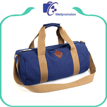 Latest high quality stylish heavy duty canvas barrel duffle bag wholesale