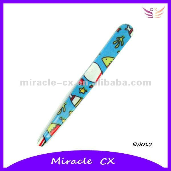 Stainless steel slanted cartoon eyebrow tweezers