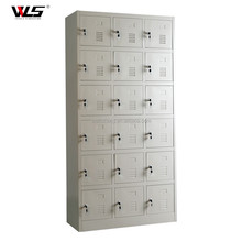 KD Structure Used locker Room Benches Steel Clothes Storage 18 Doors Locker