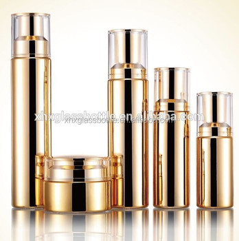 Chinese Supplier Cosmetic Gold Coated 50G Glass Jars And Lotion Packaging Bottle