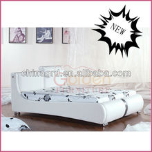Modern white photos of wood double beds (2887)