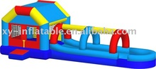 inflatable bounce house with waterslide kids combo slip and slide