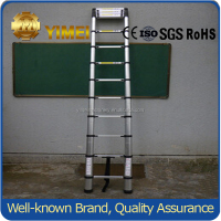 4.4M lightweight folding aluminum telescopic step ladder with EN131/CE/SGS certification